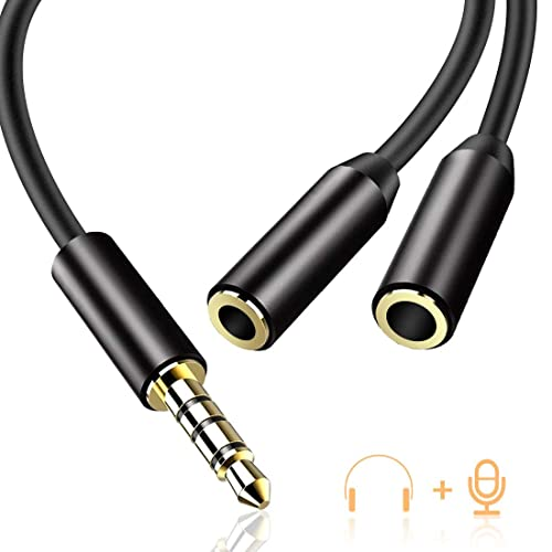 Audio Y Câble Répartiteur vers 2 Prises Jack 3,5 mm Stéréo Câble Jack Audio Double Jack Mâle vers 2 Femelle pour Écouteur Casque Compatible avec Smartphones, Tablettes, Apple, Samsung, MP3-AGPTEK