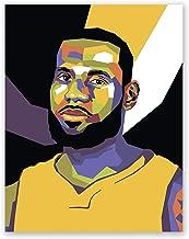 James Lebron Poster – Los Angeles Lakers NBA Wall Art Print – Pop Art Portrait – Basketball Home Decor (11x14)
