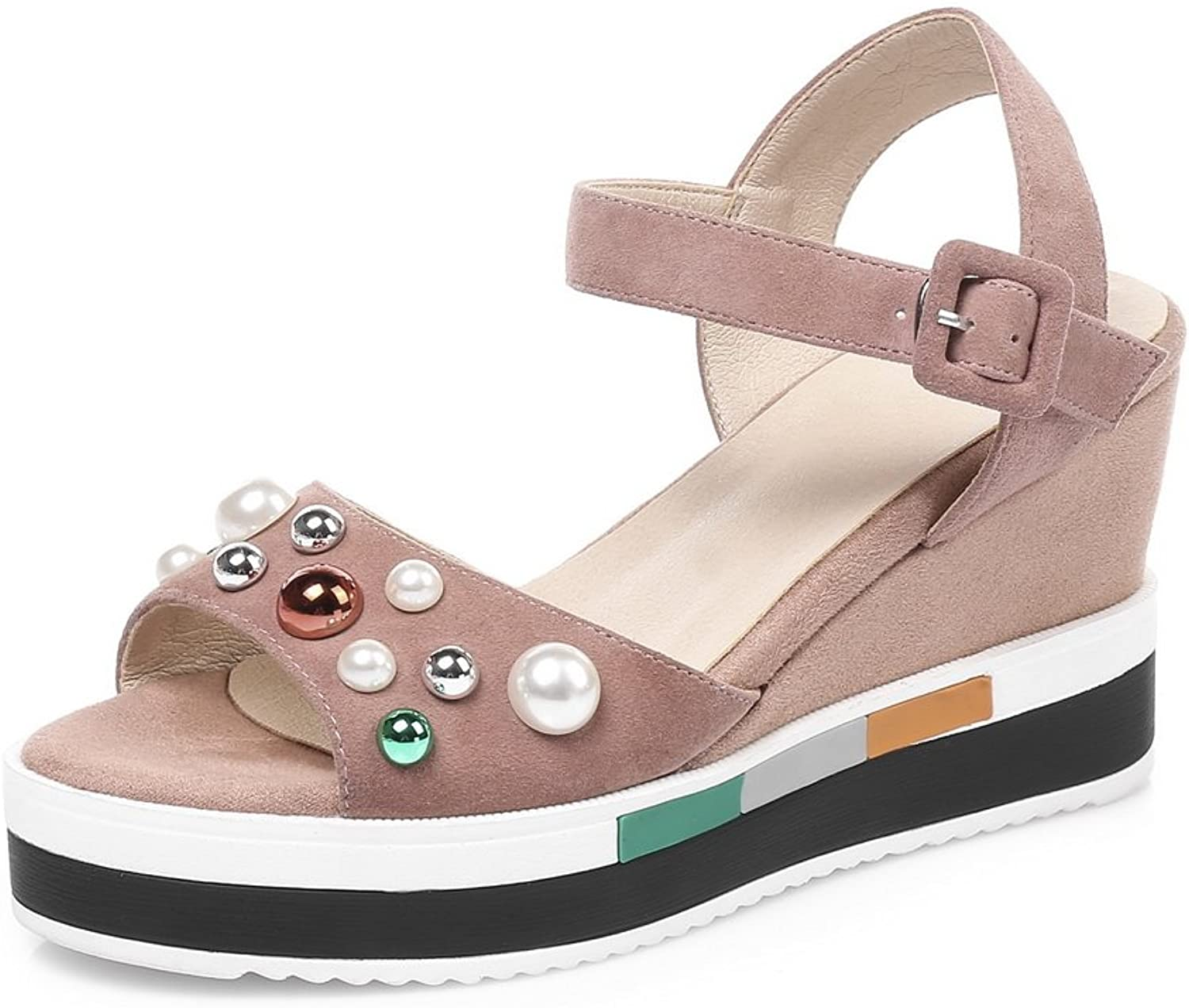 AN Womens Non-Marking Studded Cold Lining Urethane Platforms Sandals DIU00890