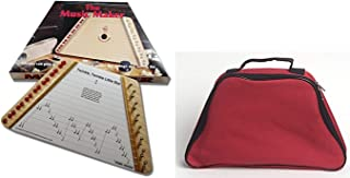 European Expressions Music Maker Lap Harp with Sheet Music and Red Carrying Case