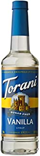 Torani Sugar Free Syrup, Vanilla, 25.4 Ounce (Pack of 1)