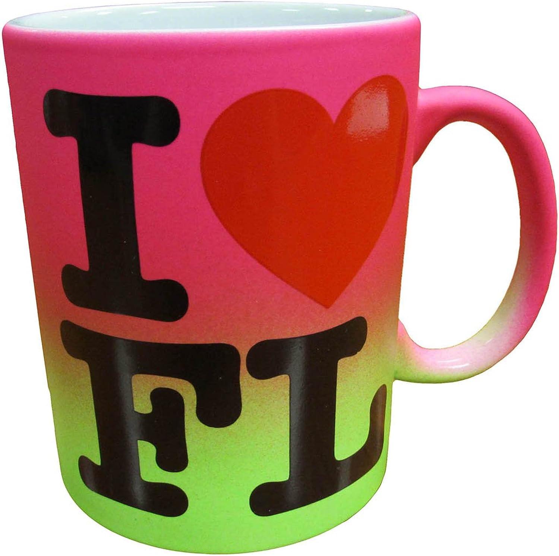 Florida 'I Heart Florida Rainbow' Coffee Ceramic Mug 11oz