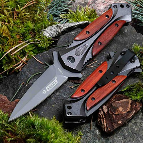 KANDAR DA27 • Pocket Folding Outdoor Camping Edc Knife • Overall Lenght: 7.99in • PTM-uk.