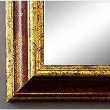 Artecentro Cornice Dorata per Quadri - Oro/Colore con o Senza passepartout in Legno-Varie Misure (Oro/Rosso, 30x40)