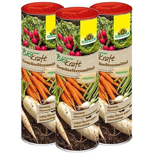 Neudorff BioKraft GemüseStreumittel 1,5 kg - Natürliches Pflanzenstärkungsmittel zur Kräftigung und Gesunderhaltung von bodenschädlingsanfälligen Gemüsepflanzen