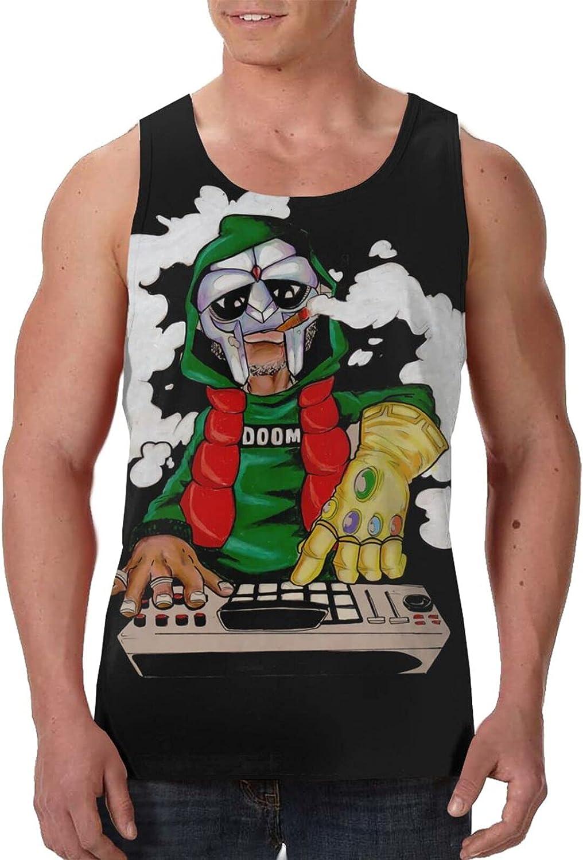 TommyDAilsa Mf Doom Tank Top T Shirt Man's Summer Fashion Round Neck Tops Sports Sleeveless Vest