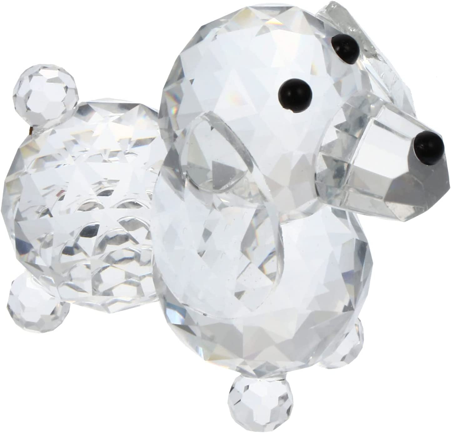 VOSAREA Crystal Dog Figurine Puppy Anim Statue Glass San Jose Mall excellence Collectible