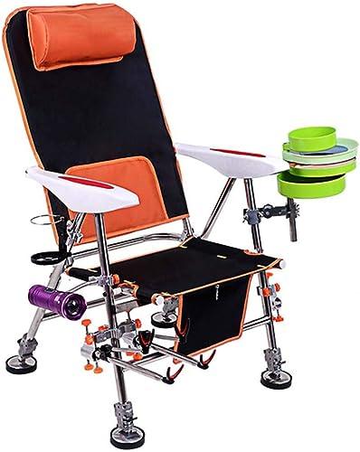 KKCD Chaise Camping Chaise De Pêche en Plein Air Chaise Pliante en Acier Inoxydable Tabouret épais Multifonctionnel Pouvant Soulever Une Chaise épaisse en Plein Air