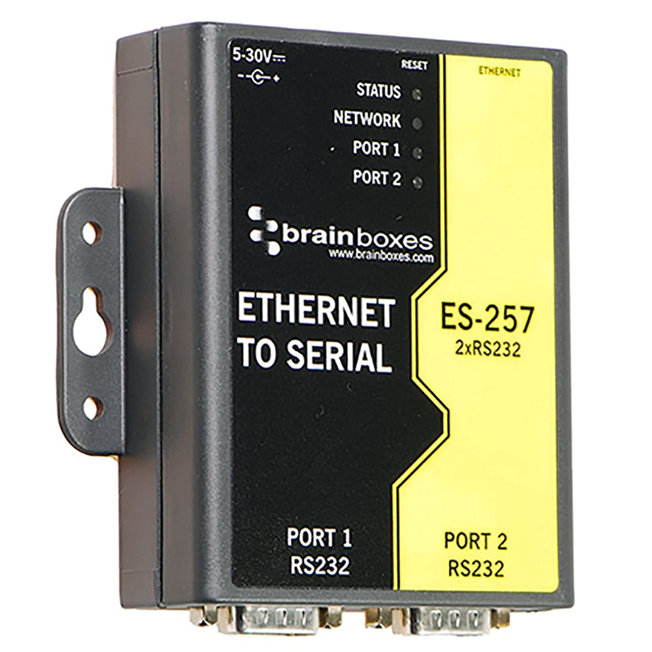 Brainboxes - Device Server - 2 Ports - 10MB LAN, 100MB LAN, RS-232 (ES-257)