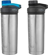 Contigo Shake Go Fit Thermalock Vacuum-Insulated Stainless Steel Shaker Bottles 709mL- Carolina Blue Gray 2pk Estimated Price : £ 39,99