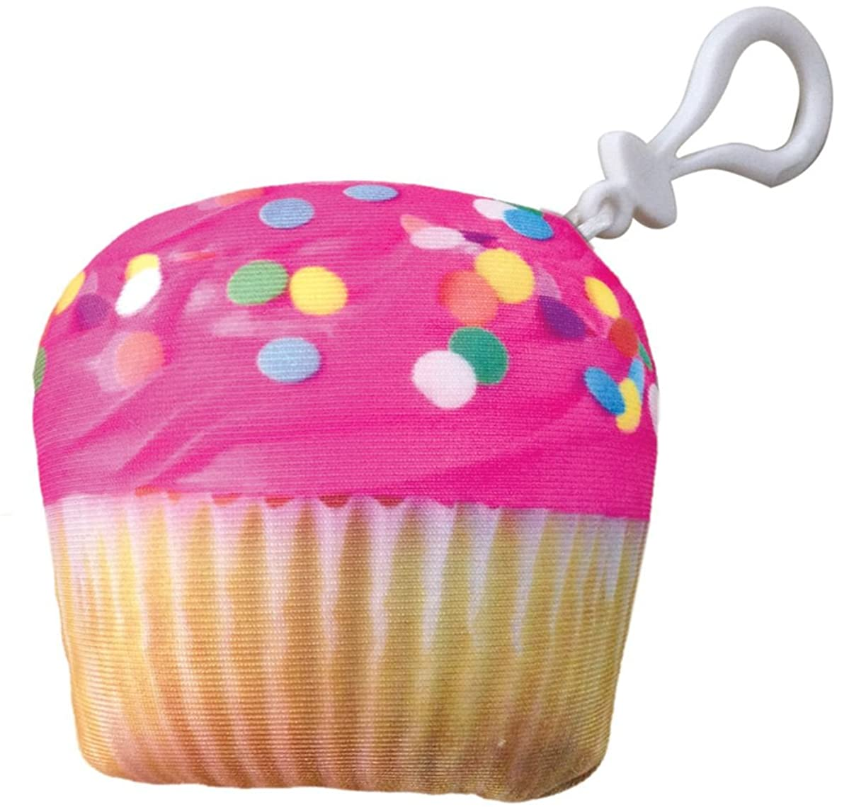 iscream Vanilla Scented Pink Icing Cupcake Mini Microbead Pillow Backpack Charm