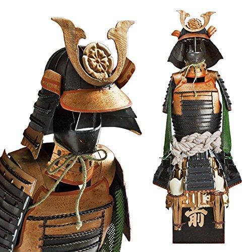 Samurai Krieger - schwarz/gold - Oda Nobunaga Shogun Japanische Samurai Rüstung Miniatur