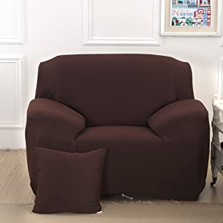 East Eagle Stretch Couch Sofa Lounge Cover Slipcover Protector 1/2/3 Seater (1 Seater, Coffee)
