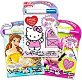 Imagine Ink Coloring Books for Girls Bundle - 3 Mess Free Coloring Books Featuring Hello Kitty, Minnie Mouse, and Princess with Disney Princess Lenticular Stickers