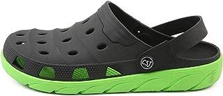 COOPCUP Zuecos de los hombres zapatos de jardín EVA mules Slip on transpirable agua playa sandalias verano ligero secado r...