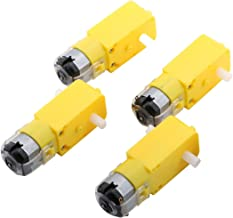 4PCs DC Electric Motor 3-6V Dual Shaft Geared TT Magnetic Gearbox Engine for DIY Robot Toys Cars Chassis Models Vibration Products by Yeeco(1:48 Reduction Ratio)
