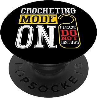 Mode De Crochet Sur Le Crochet Drôle De Tricot À Coudre PopSockets PopGrip - Support et Grip pour Smartphone/Tablette avec...
