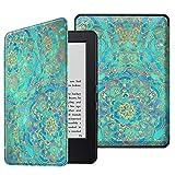 Fintie SlimShell Funda para Kindle 7ª Generación (2014) - La Más Delgada y Ligera Carcasa de Cuero Sintético con Función de Auto-Reposo/Activación, Jade