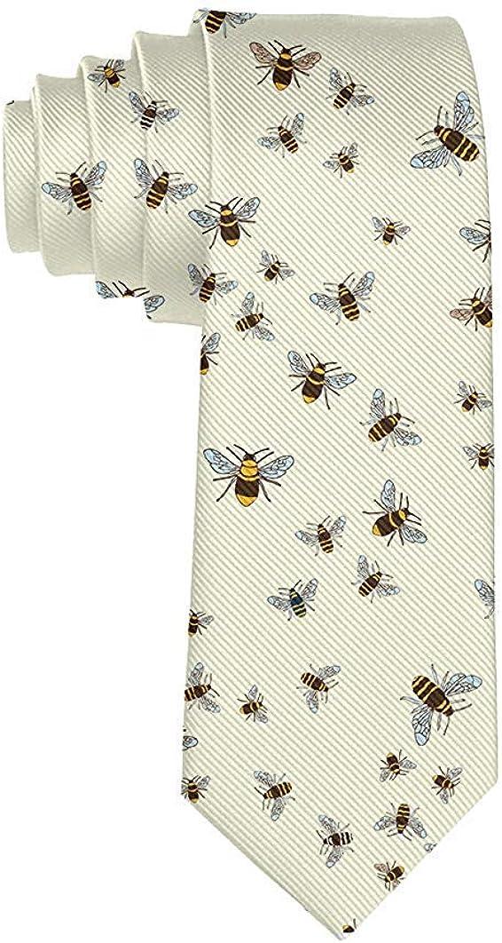 Men's Casual Fashion Bee Honeybee Polyester Silk Casual Gentleman Tie Necktie Gift-One Size