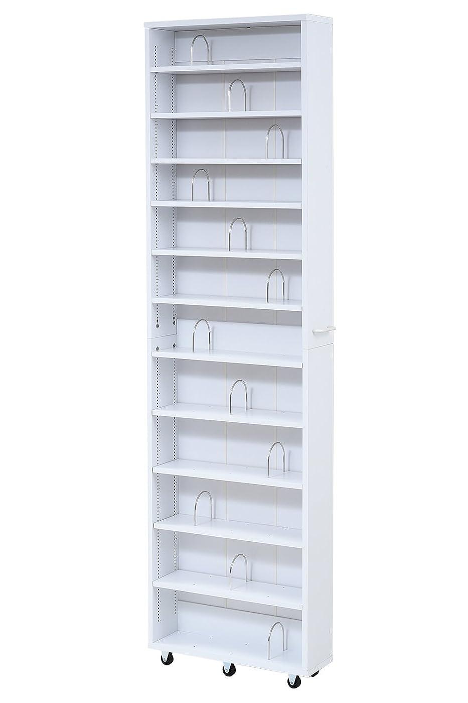蓮シャッフル城JKプラン 書棚 ホワイト 16.5×55×200cm FRM-0004-WH