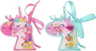 خواتم في صندوق من ويكتوري، لا توجد تكرار، مجموعة خواتم مجوهرات للأطفال مع حقيبة عرض على شكل حصان صغير، خواتم للفتيات للعب ...