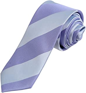 Dan Smith Multicolors Slim Necktie Microfiber Stripe Skinny Tie With Free Gift Box