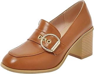 JOJONUNU Women Comfort Block Heel Office Pumps