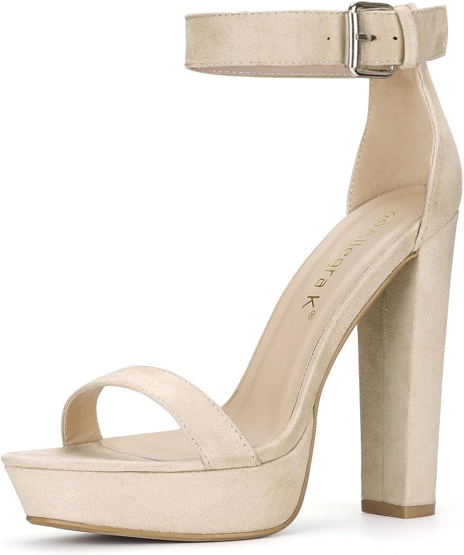 9246fecd96 Allegra K Ankle Strap Platform Heels Women's High nhrmvw955-New ...