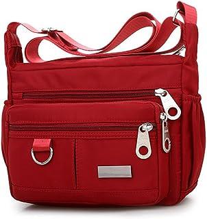 Allence Damen Einfarbig Taschen Reißverschluss Wasserdichte Umhängetasche Handtasche