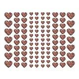 Oblique Unique® 106 pegatinas con forma de corazón con efecto brillante en oro rosa, para scrapbooking, decoración, manualidades, boda, día de San Valentín