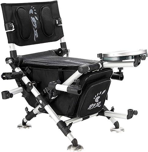KKCD Chaise Camping Chaise Pliante Extérieure, Chaise De Camping pour Chaise De Pêche, Support pour Dossier Haut, Accoudoir pour Sac à Main, Chaise De Pêche Légère