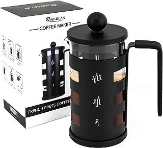 Uppgraderad fransk presskaffebryggare rostfritt stål värmebeständig borosilikatglas kaffekanna perkolator (350 ml)