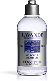 L'Occitane Lavender Shower Gel Enriched with Relaxing Lavender Essential Oil, 8.4  Fl Oz