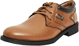 Zoom Formal Shoes for Men Genuine Leather Shoes Online 4024-Tan Colour