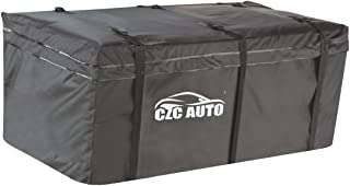 CZC AUTO Hitch Cargo Carrier Bag, 20 cu. ft Waterproof/Rainproof/Weatherproof Cargo Traveling Bag for Car Truck SUV Vans' Hitch Trays and Hitch Baskets, Safe Steady Durable Soft, Black
