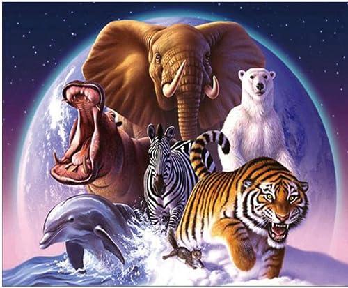 aquí tiene la última XIGZI XIGZI XIGZI Elefante Tigre Cebra Dolphin Multi Animal Estilo 5D Pintura de Punto de Cruz Pintura para el hogar Decoración sin Marco  más descuento