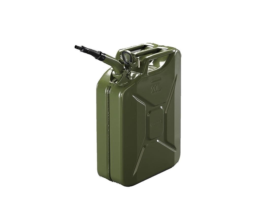 ばかげた涙硬化する20L ガソリン携行缶(縦型?フレキノズル付/OD色) EA991HB-30A