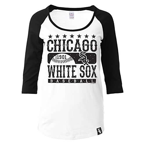 64a3cbf0be1d 5th   Ocean MLB Chicago White Sox Women s 3 4 Sleeve Scoop Neck Tee with