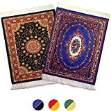 Rug Mouse Pads, Oriental Rug Mouse Pad, Woven Mousepad, Persian Rug Mouse Pad, Oriental Carpet Mouse Pad, 9' X 7', Different Patterns (Blue and Black)