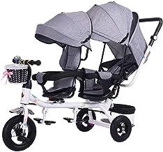 WRJY Cochecitos de bebé Sillas de Paseo Sillas de Paseo Gemelos Triciclos Niños Dobles Bicicletas Gemelos Trolley Baby 1-7 años Coche de bebé