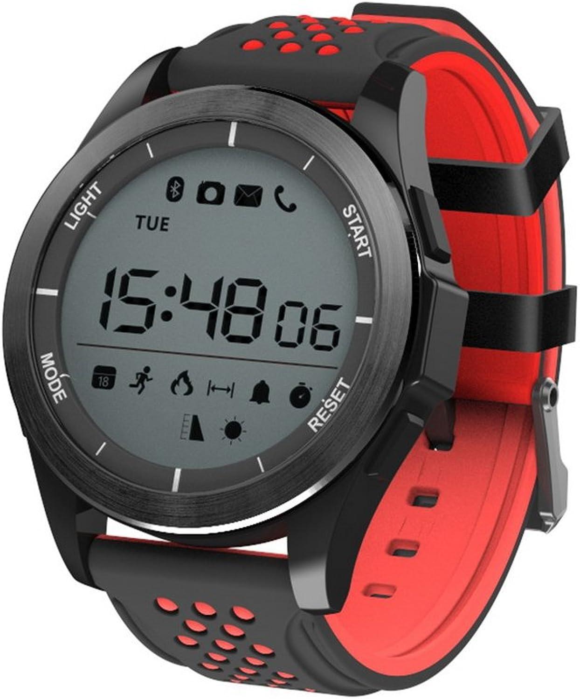 Flmn Intelligente Uhr IP68 Wasserdichte Kamera GPS 3G WiFi Blautooth 4.0 Schrittzhler  Android 4.4   IOS 9.0 und hher (Farbe   schwarz rot)