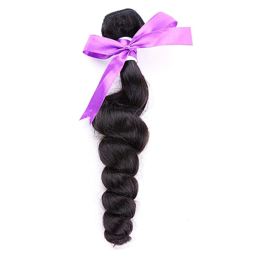聖歌一貫性のないとティームペルールースウェーブ100%人毛バンドルナチュラルカラーノンレミーヘア1個 かつら (Stretched Length : 10inches)