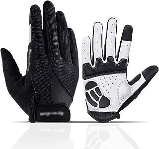 MEETEU Men's Cycling Gloves, Anti-Slip Full Finger Gloves Half Finger Gloves Breathable Gel Pad Shockproof Biking Gloves for Road Bicycle MTB Motorcycle