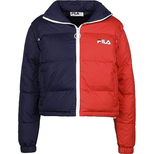 ffeeea4b62f7f7 Fila - Martina Cropped Shell Puffer Jacket, Chinese Red
