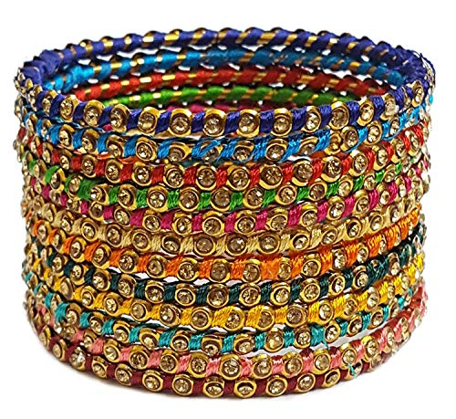 YouBella Ethnic Bollywood Gold Plated Traditional Indian Thread Bracelet Bangle Jewellery for Women and Girls (5.7)
