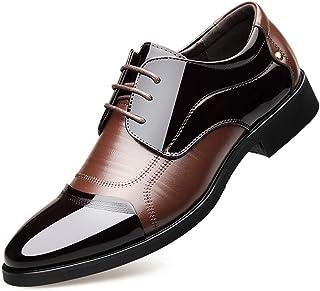 509ce83a01 Chaussure de Mariage en Cuir d'affaire Habillé pour Homme Soulier Chaussure  Commercial a Lacet