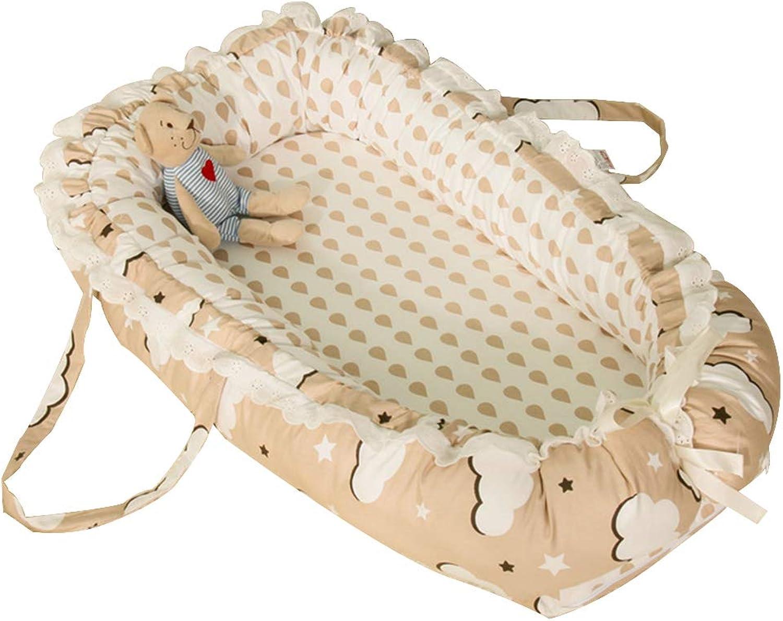 Bionic Baby Crib, Portable Washable Cotton Imitation Uterus Cradle Fence, Travel Crib for 0-1 Year Old Baby