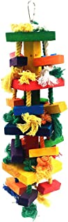 MAIYUAN Knots Block Chewing Bird Toys for Parrot (Large 17 Inch)