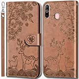 LEINUO for Samsung Galaxy A8s Phone Case Leather Wallet