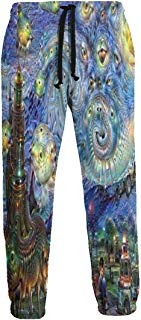 Dream Starry Night Painting Jogger Pants Quick Dry Sweatpants with Elastic Waist Casual Pants for Men